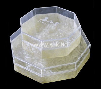 Custom octagon perspex display box