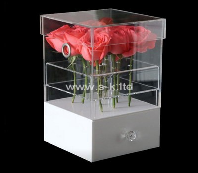 Custom perspex flower box with drawer