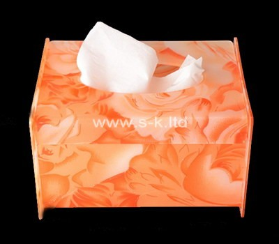 Custom colored perspex tissue box