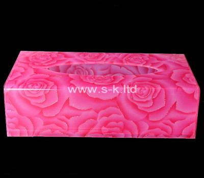Custom color perspex tissue box
