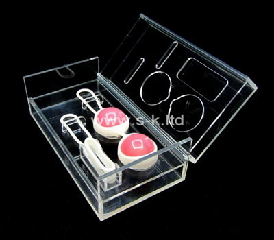 Custom clear perspex organizer box
