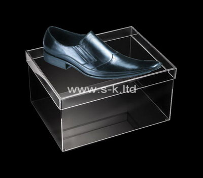 Custom perspex shoe box with lid