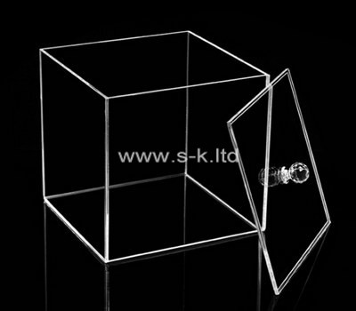 Custom square clear perspex box with lid