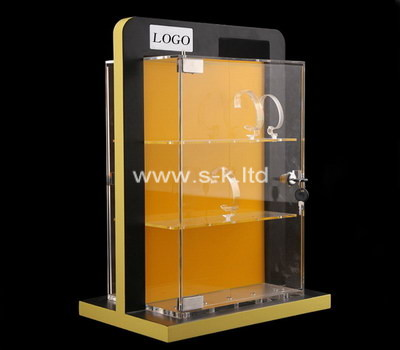 Custom acrylic lockable watch display cabinet