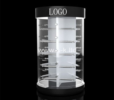 Custom round acrylic display cabinet