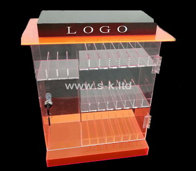 Custom lockable acrylic display cabinet