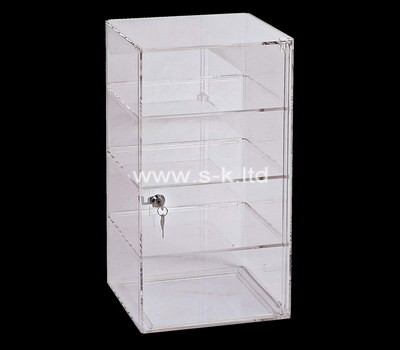 Custom 4 tiers lockable acrylic display cabinet