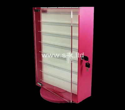 Custom narrow lockable acrylic display cabinet