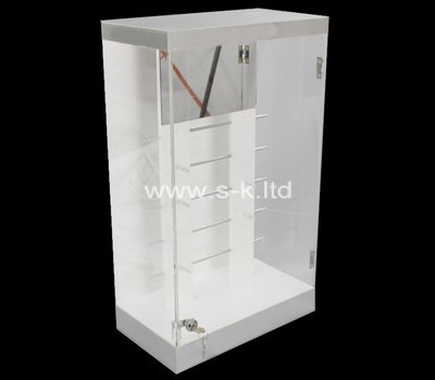 Custom retail lockable acrylic display cabinet