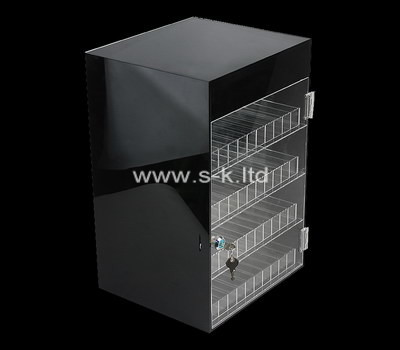Custom 4 tiers retail lockable acrylic display cabinet