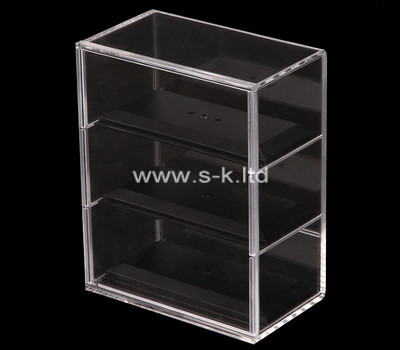 Custom 3 tiers clear acrylic display cabinet