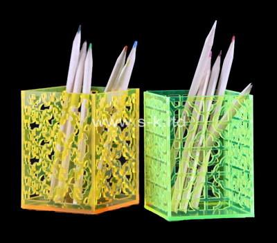 Custom table top color acrylic pen holder
