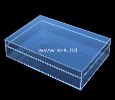 Custom flat clear acrylic display box