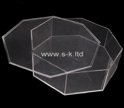Custom octagon acrylic box with lid