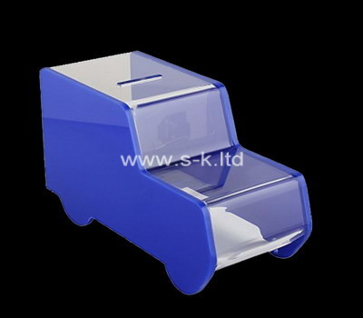 Custom car shape acrylic money box