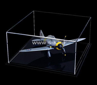 Custom acrylic model airplane display case