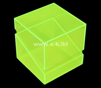 Custom green acrylic box