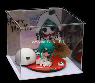 Custom clear acrylic doll display case