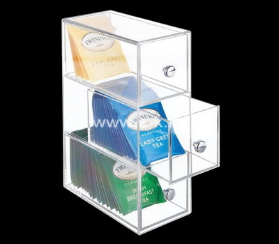 Custom clear acrylic teabag organizer box