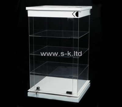 Custom 4 tiered acrylic locking cabinet