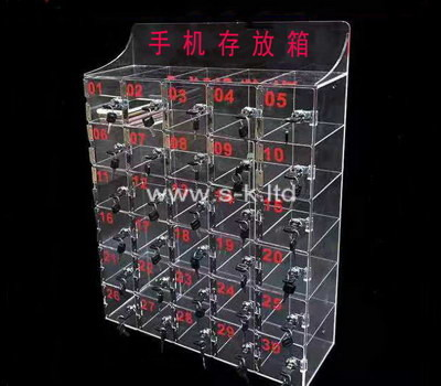 Custom 30 grids acrylic cell phones lockers
