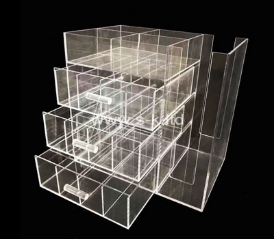 Custom clear acrylic drawer organizer