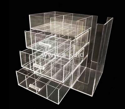 Custom clear acrylic drawer organizer