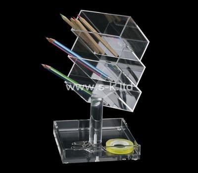Custom table top acrylic pen holder