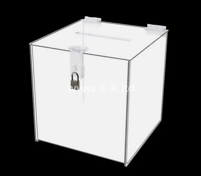 Custom lockable acrylic donation box