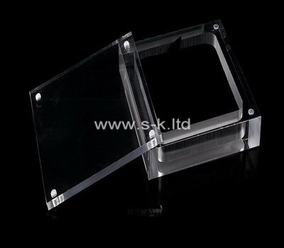 Custom clear acrylic jewelry display case