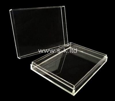 Custom flat clear acrylic display case