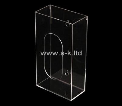 Custom wall clear acrylic display case