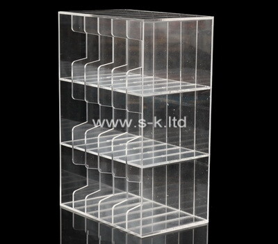 Custom multi grids clear acrylic display box
