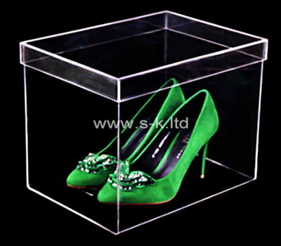 Custom acrylic shoe storage box