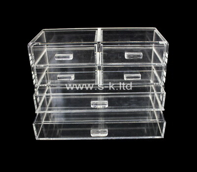 Custom clear acrylic drawers organizers