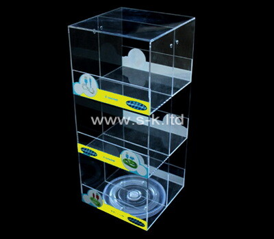 Custom 3 tiers clear acrylic display case