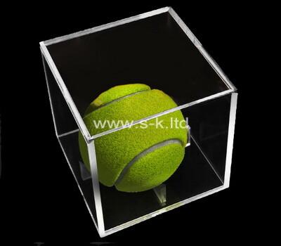 Custom clear acrylic tennisball display case