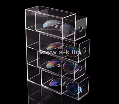 Custom 4 tiers clear acrylic sunglasses display case