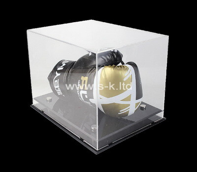 Custom acrylic boxing glove display case