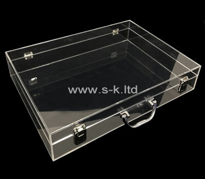 Custom flat clear plexiglass storage box