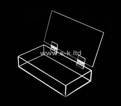Custom clear plexiglass organizer box