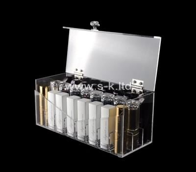 Custom clear plexiglass organizer box with lid