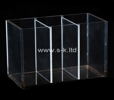 Custom 3 grids clear plexiglass storage boxes