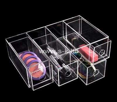Custom 4 grids clear plexiglass drawers boxes
