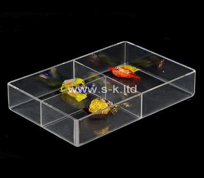 Custom 3 grids clear plexiglass boxes