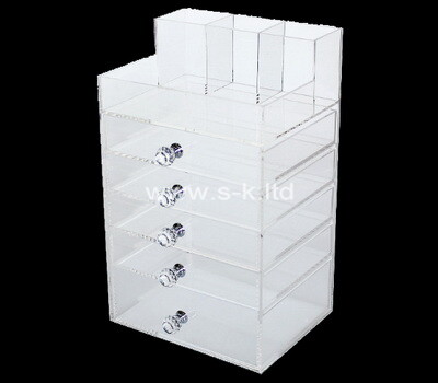 Custom acrylic 5 drawers organizers