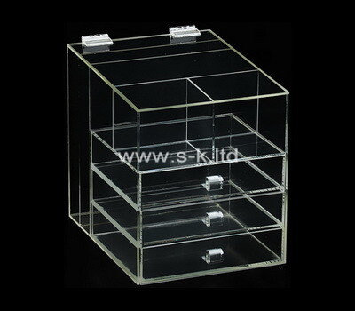 Custom clear acrylic 3 drawers organizers