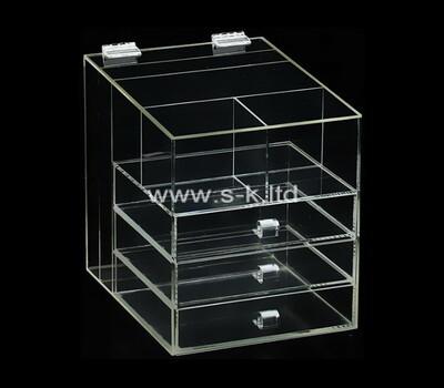 Custom clear acrylic 3 drawers organizers