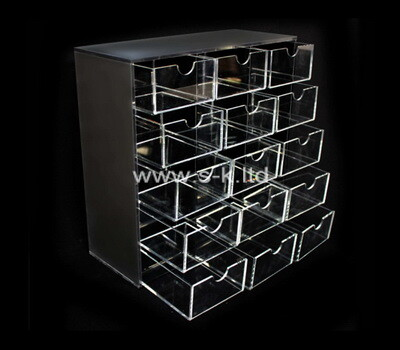Custom clear acrylic 15 drawers organizers