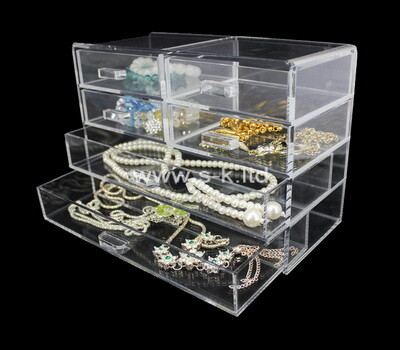 Custom clear acrylic 6 drawers organizer